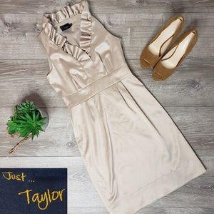 Taylor gold metalic dress size 2